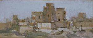 Lehmhäuser - z.T. unbewohnt - in der Region Souss-Massa-Daraâ (Marokko)