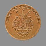 Medaille mit Familienwappen (Gold)