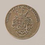 Medaille mit Familienwappen (Silber)